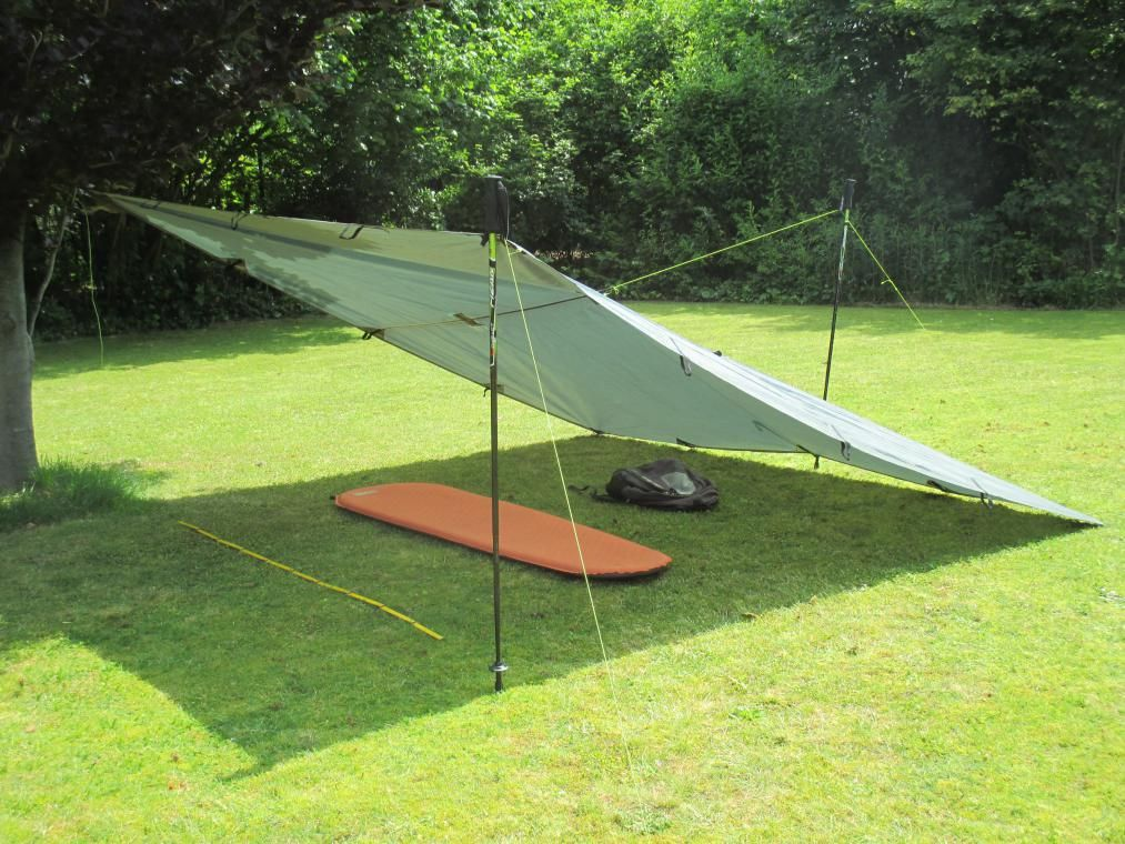 Medium image of dd hammock 3x3 tarp setup
