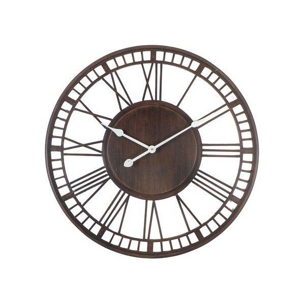 horloge murale ronde noir en bois et chiffres multicolores. Black Bedroom Furniture Sets. Home Design Ideas