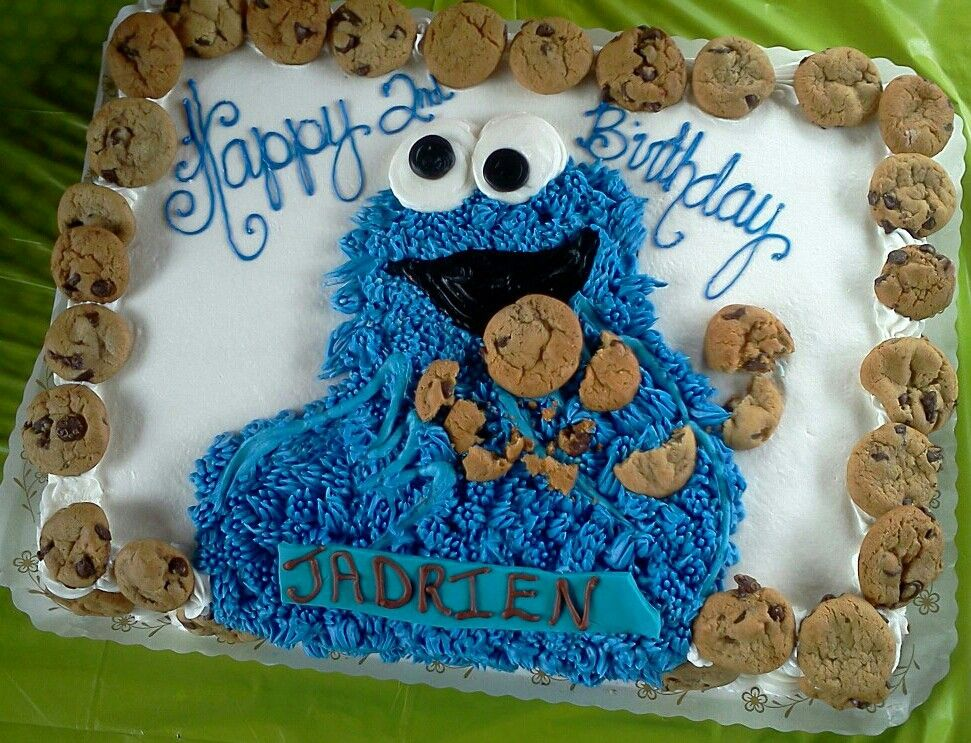 Cookie Monster Cake With Images Monster Birthday Cakes Cookie