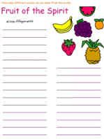Fruit Of The Spirit Printable Activity Sheets With Images