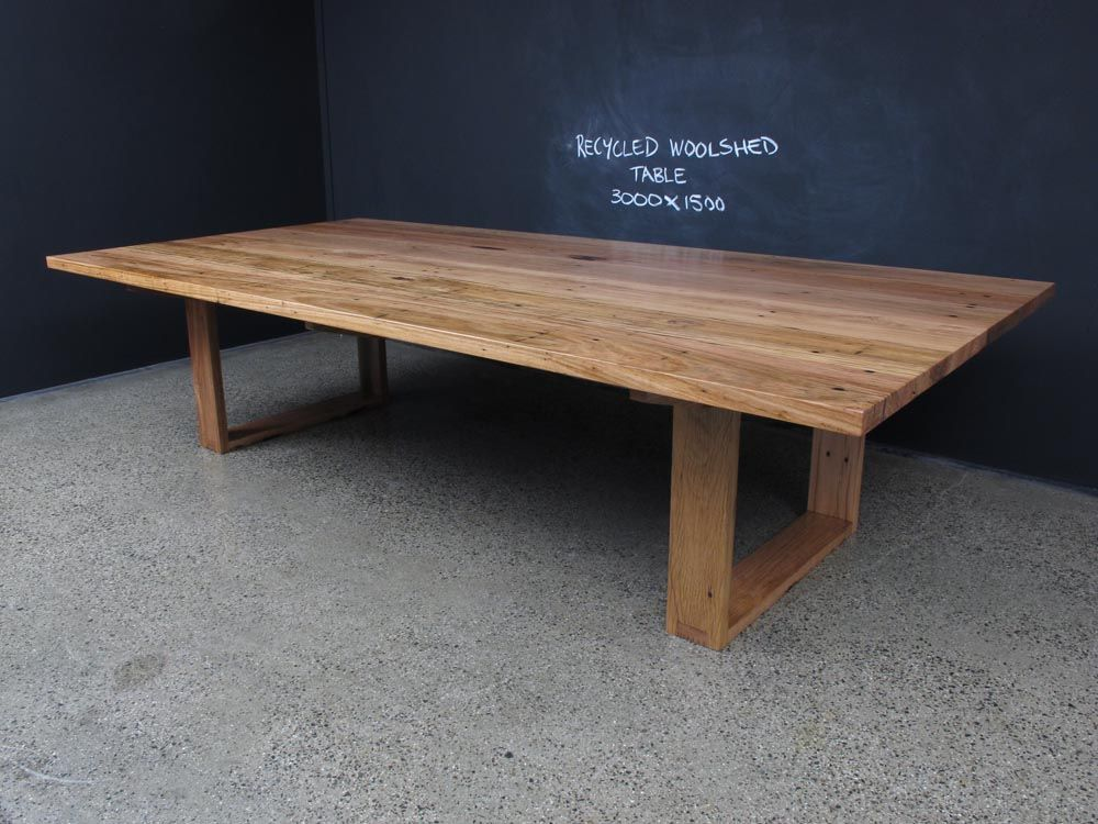 Mitred U Based Table With Exposed Tenons