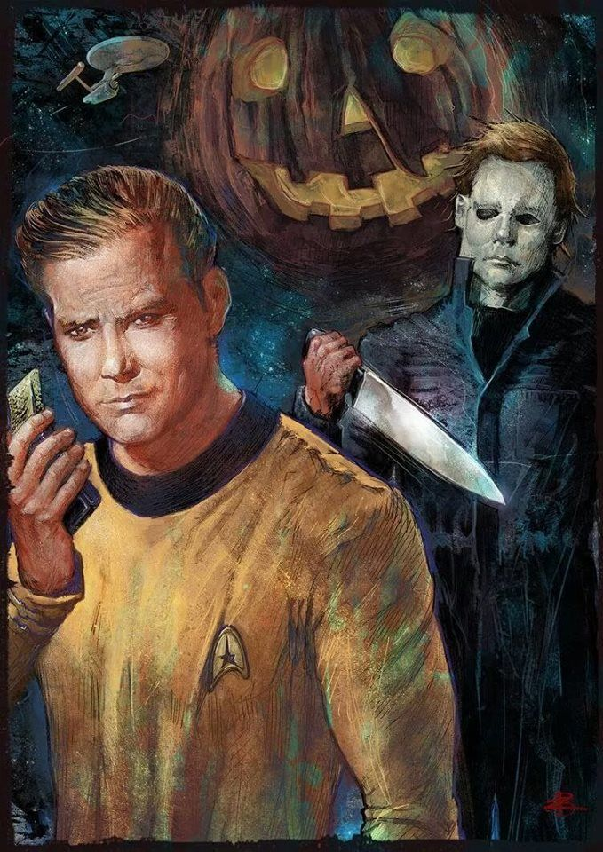 Full circle...Michael Meyers takes out Captain Kirk