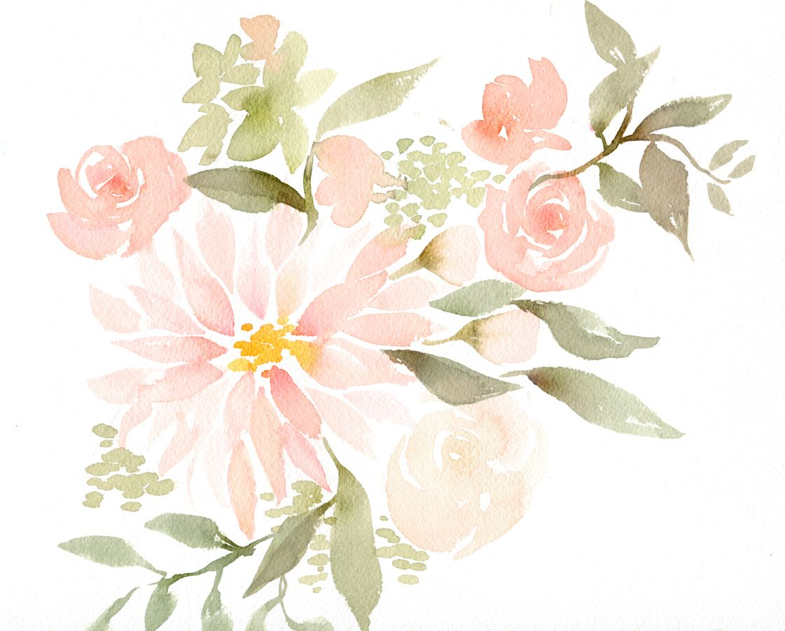 watercolor flowers wedding