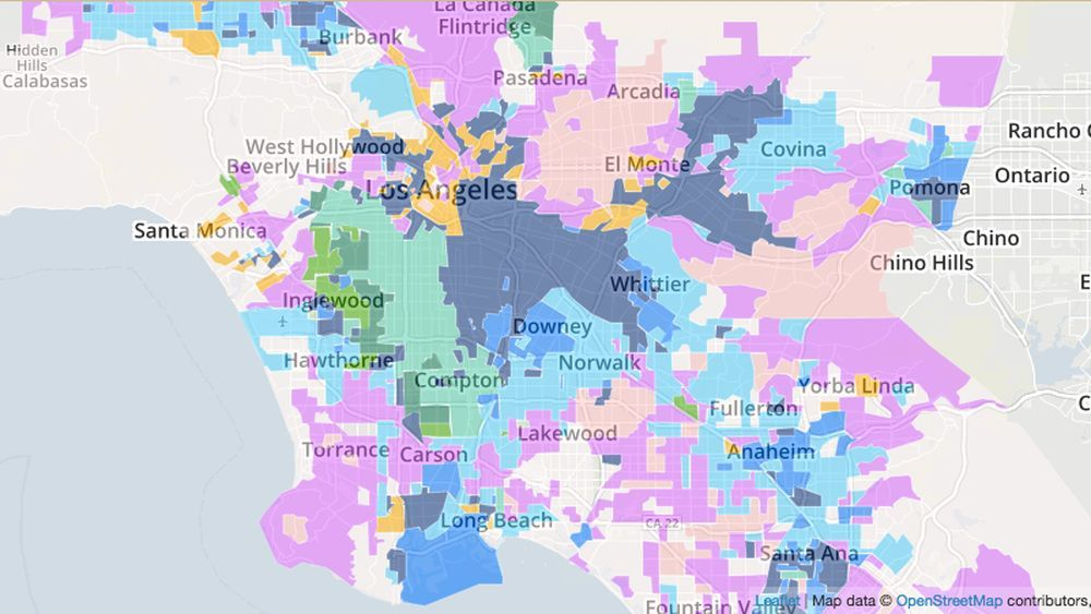 Study LA Neighborhoods Are Re Segregating