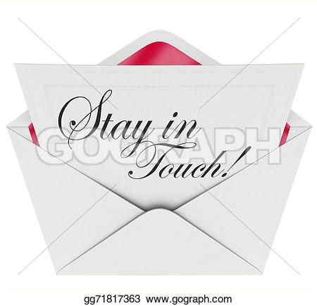 illustration stay touch words written formal note letter keep join - Formal Invitation Letters