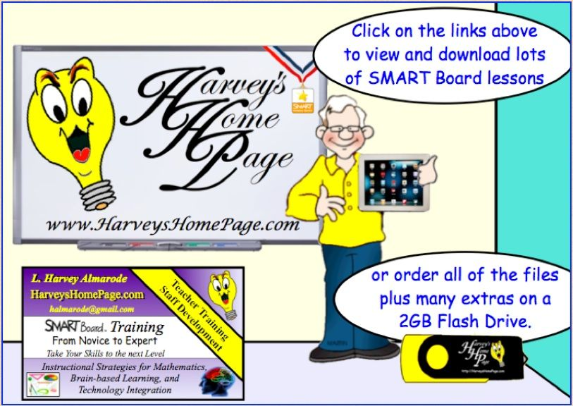 Interactive Whiteboard lessons in SMART Notebook format  If