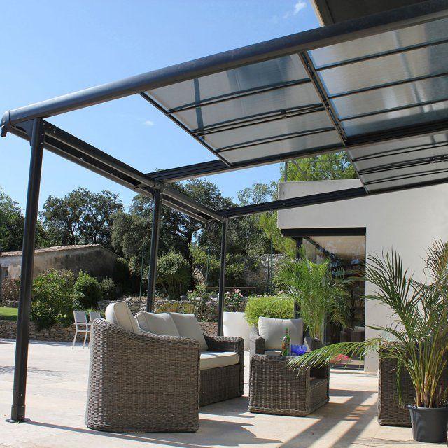 une tonnelle de jardin adosse avec toiture amovible pour profiter ou se protger du soleil leroy merlinpergolasterracebalconiespatiosarborstentshouse