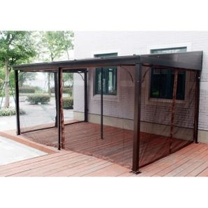 10 X 12 Terrace Flush Gazebo With Hard Top And Mosquito Netting Mosquito Netting Patio Backyard Patio Designs Gazebo