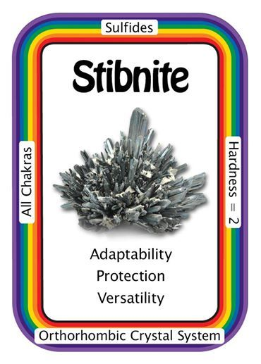 "Crystal Card of the Day: Stibnite ""I easily adapt to the shifting energies of the world."" Stibnite assists in helping to adjust to the constant changes that are faced on a daily basis. It alleviates fears, difficulties and chaos. Stibnite can help to stabilize one's economy, making it a perfect piece to use in intention ceremonies and/or meditations. Stibnite also aids in the various energy shifts and higher frequency energies that our bodies are currently undergoing."