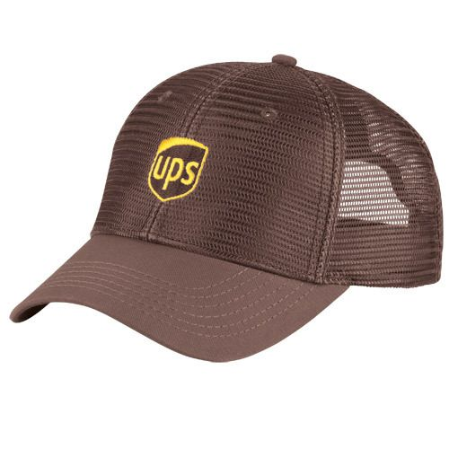 658c52460e0e9 United Parcel Service UPS Logo Embroidered Summer Mesh Baseball Cap Hat