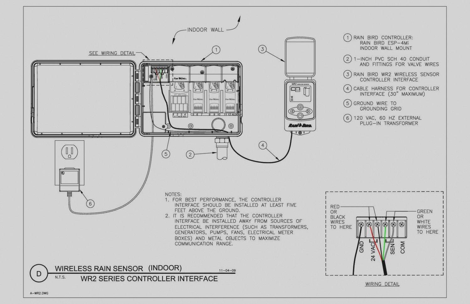 New Sprinkler System Wiring Diagram In 2020 Irrigation Controller Sprinkler System Sprinkler