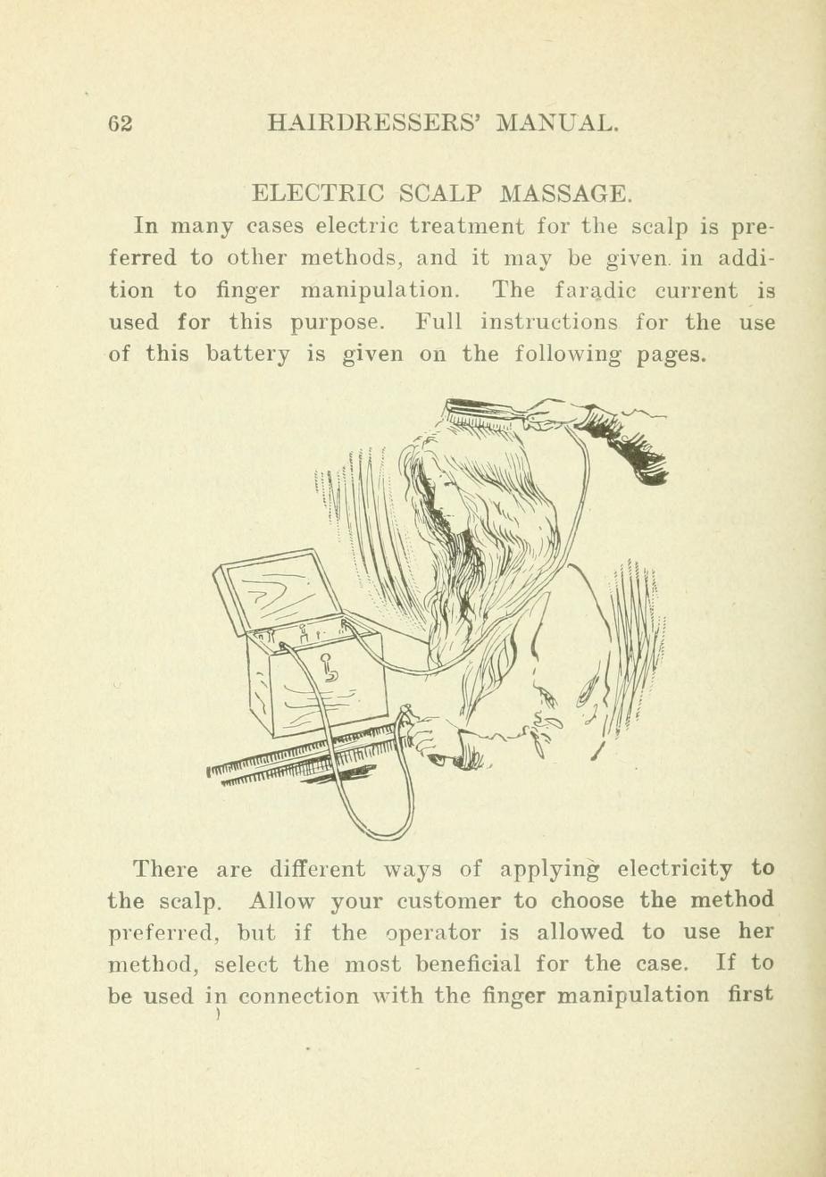 1906 Electric scalp massage
