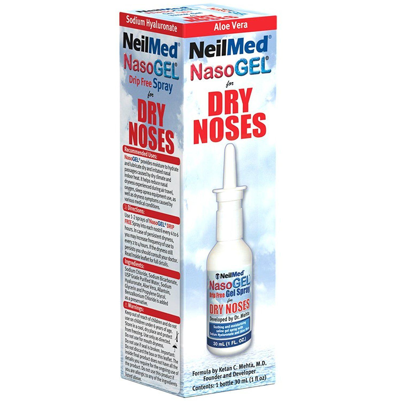 NeilMed Nasogel Drip Free Gel Spray, 1 Fluid Ounce