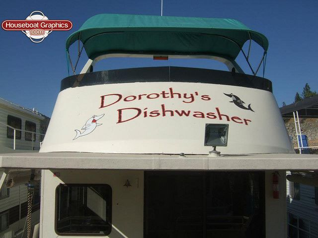 Houseboatgraphicsdishwasherboatnamevinyldecal Graphics And - Houseboats vinyl decals