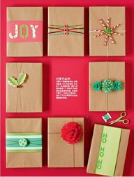 #christmas #gift wrap ideas and more! #diy