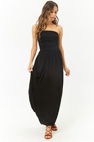 294f248081 Ruched Strapless Maxi Dress