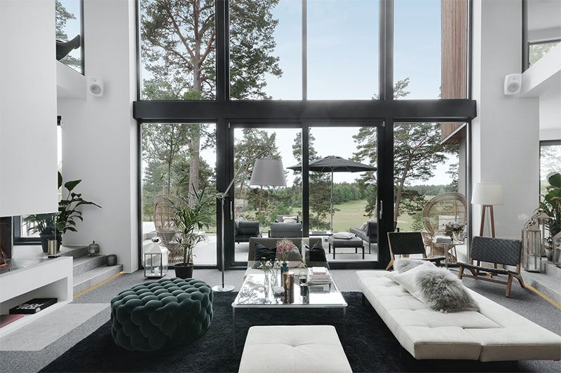 Modern Villa With High Ceilings In Sweden With Images Modern