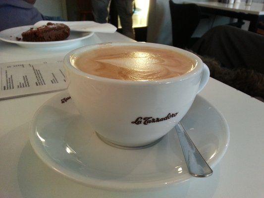 Milchkaffee at Cafe Taubenschlag Berlin