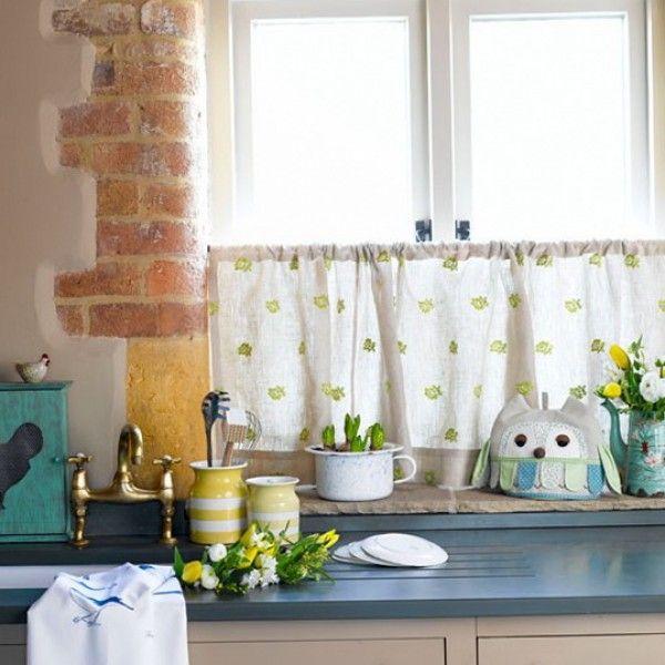 Beautiful Decorating Kitchen Windows Contemporary Decorating