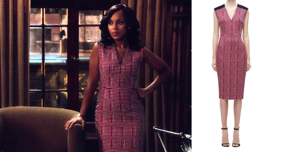 2a170afe0437 Olivia Pope Red Pattern Dress Scandal | Olivia Pope's closet