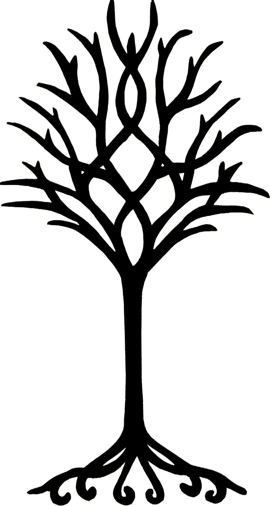 simple tree Colouring Pages (page 2) ClipArt Best