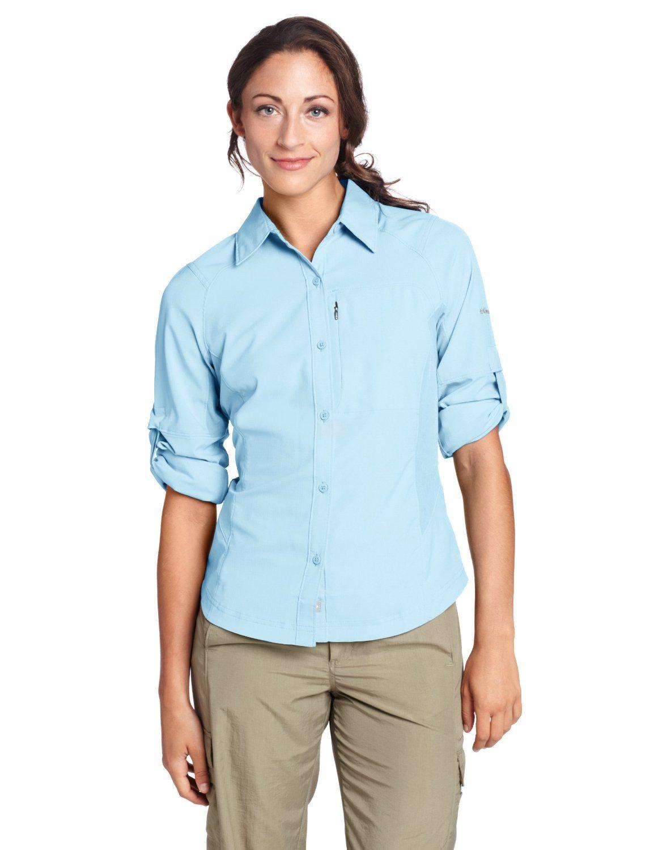 40bb3d72e2d Amazon.com : Columbia Women's Silver Ridge Long Sleeve Shirt : Hiking Shirts  : Sports & Outdoors