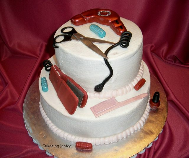 Beauty Salon Happt Birthday Beauty Salon Cake