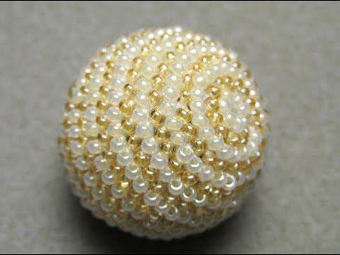 Diy Beaded Crochet Ball Tutorial Part 13 Youtube Haken Kralen