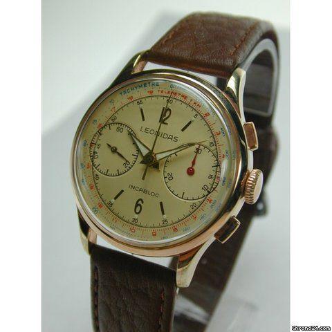 leonidas chronograph vintage watches uhren wolle kaufen. Black Bedroom Furniture Sets. Home Design Ideas