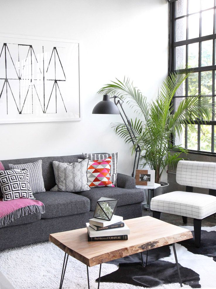 Jenni Radosevich Industrial Black White Apartment With West Elm