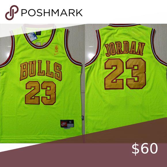 Chicago Bulls Michael Jordan Green Jersey Note:All Items Will Need ...
