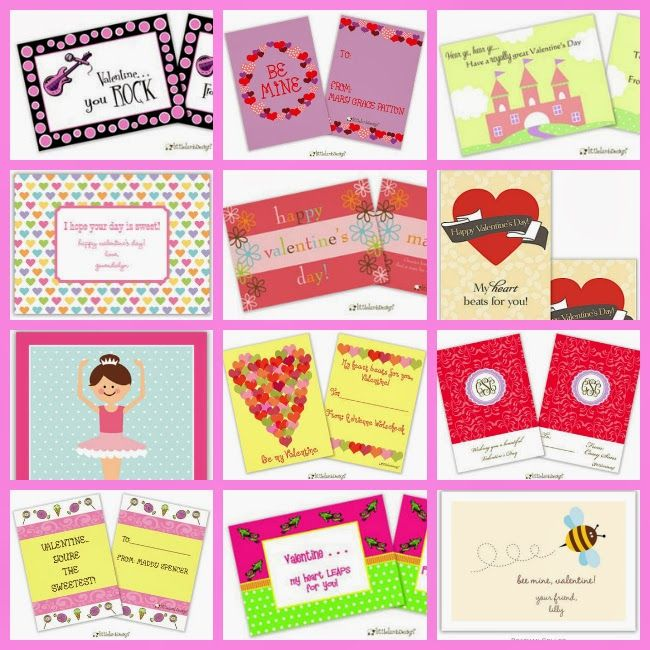 Classroom Valentine Exchange Cards For Girls Princesses