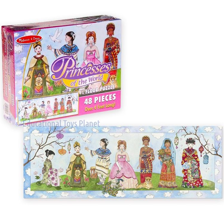 Princesses of the World floor puzzle by Melissa & Doug will teach your girls geography, cultural diversity, history and bring puzzle fun to a new level.
