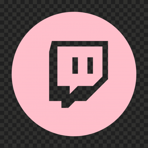 Hd Light Pink Twitch Tv Round Outline Icon Transparent Png In 2021 Twitch Tv Twitch Outline