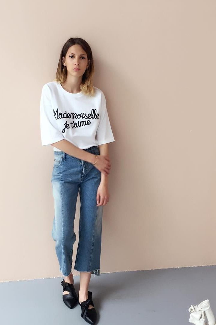 5b97e6758d Not just your regular jeans and t-shirt. Perfect tom(girl) combo.