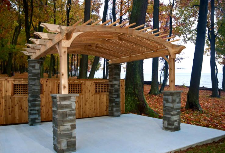 pergola with brick pillars | Building a Pergola…Is there a Better Way than  Wood - Pergola With Brick Pillars Building A Pergola…Is There A Better