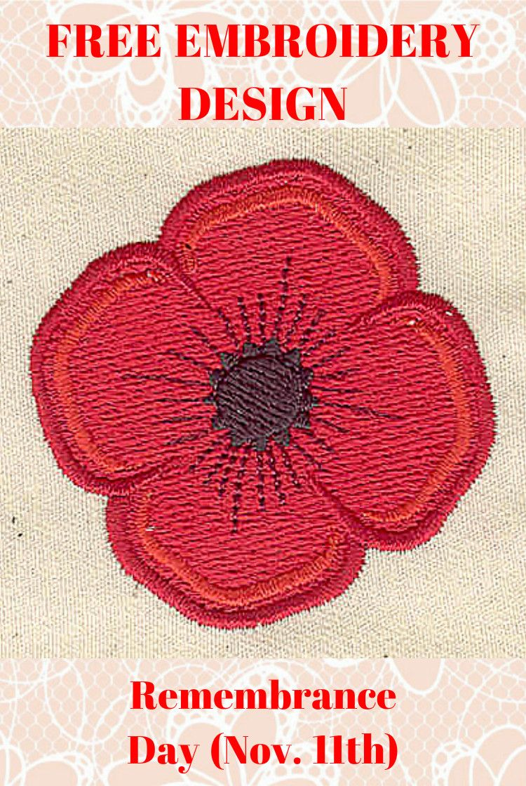 Download This Embroidery Design Free Be Prepared For Remembrance