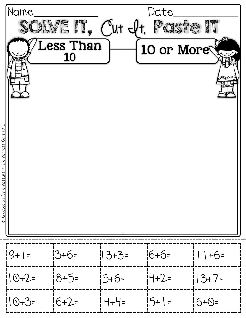 Interactive Math Lve It Cut It Paste It Sort It
