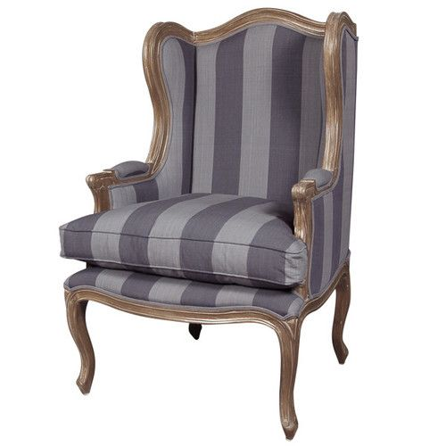Discount Beau Striped Armchair Elegant Designs (AU) 01 Large