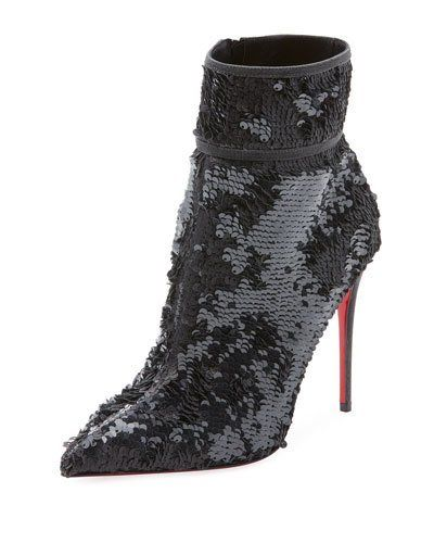 6a7a020181f Christian Louboutin Moula Kate Sequin Red Sole Bootie