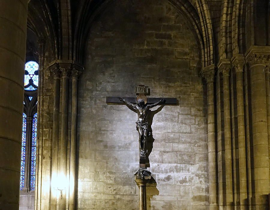 Interior Of Notre Dame Cathedral In Paris France