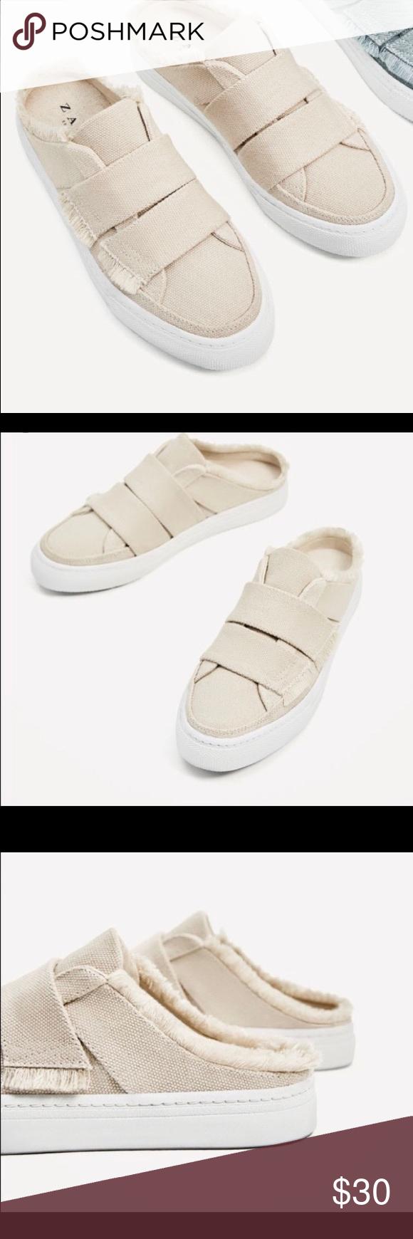 Zara Frayed Edge Mule Sneakers   Mule