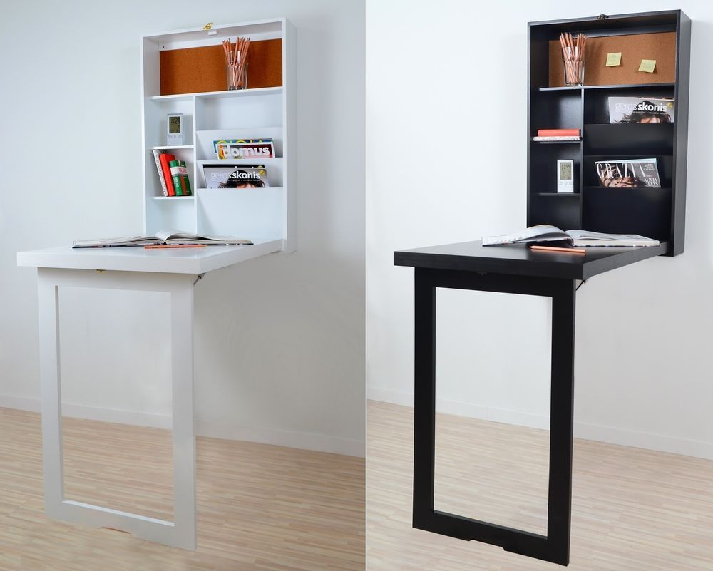Fold Up Wall Mounted Desk Table Space Saver Computer Hanging