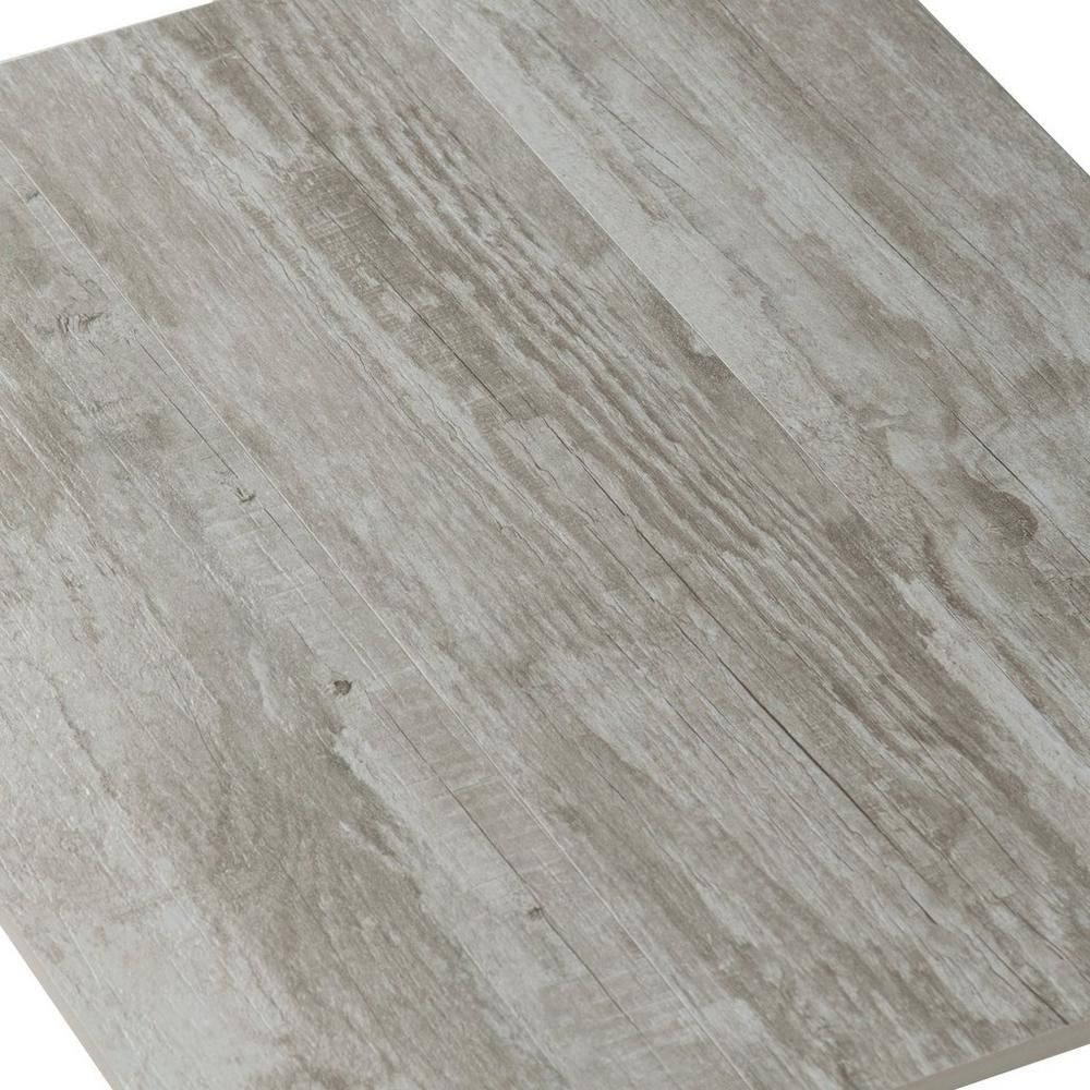westford gray wood plank porcelain tile - 6in. x 24in. - 100222074