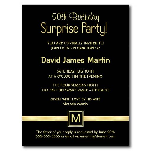 50th birthday surprise party sample invitations surprise