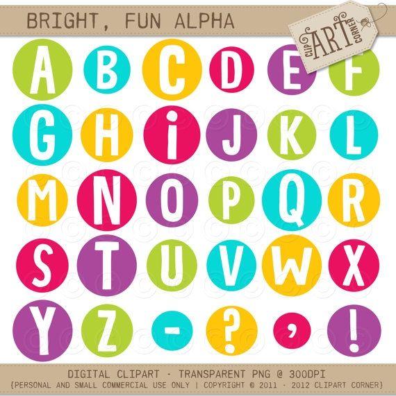 Bright, Fun Bubbles - Luvly Marketplace | Premium Design Resources #clipart #alphabet
