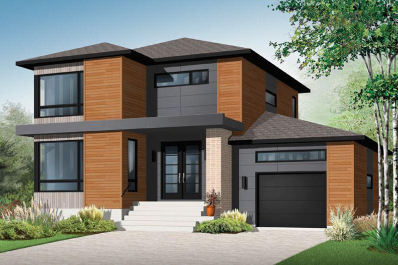 Contemporary Exterior - Front Elevation Plan #23-2585 บ้านในฝัน