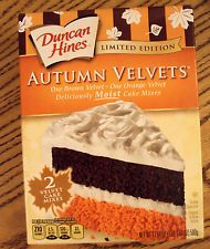 Duncan Hines Autumn Velvet Cake Mix Limited Edition Best By 6/2017 (or Biscotti)