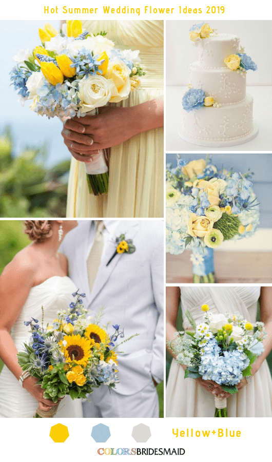 8 Hottest Summer Wedding Flowers Ideas for 2019 Blue