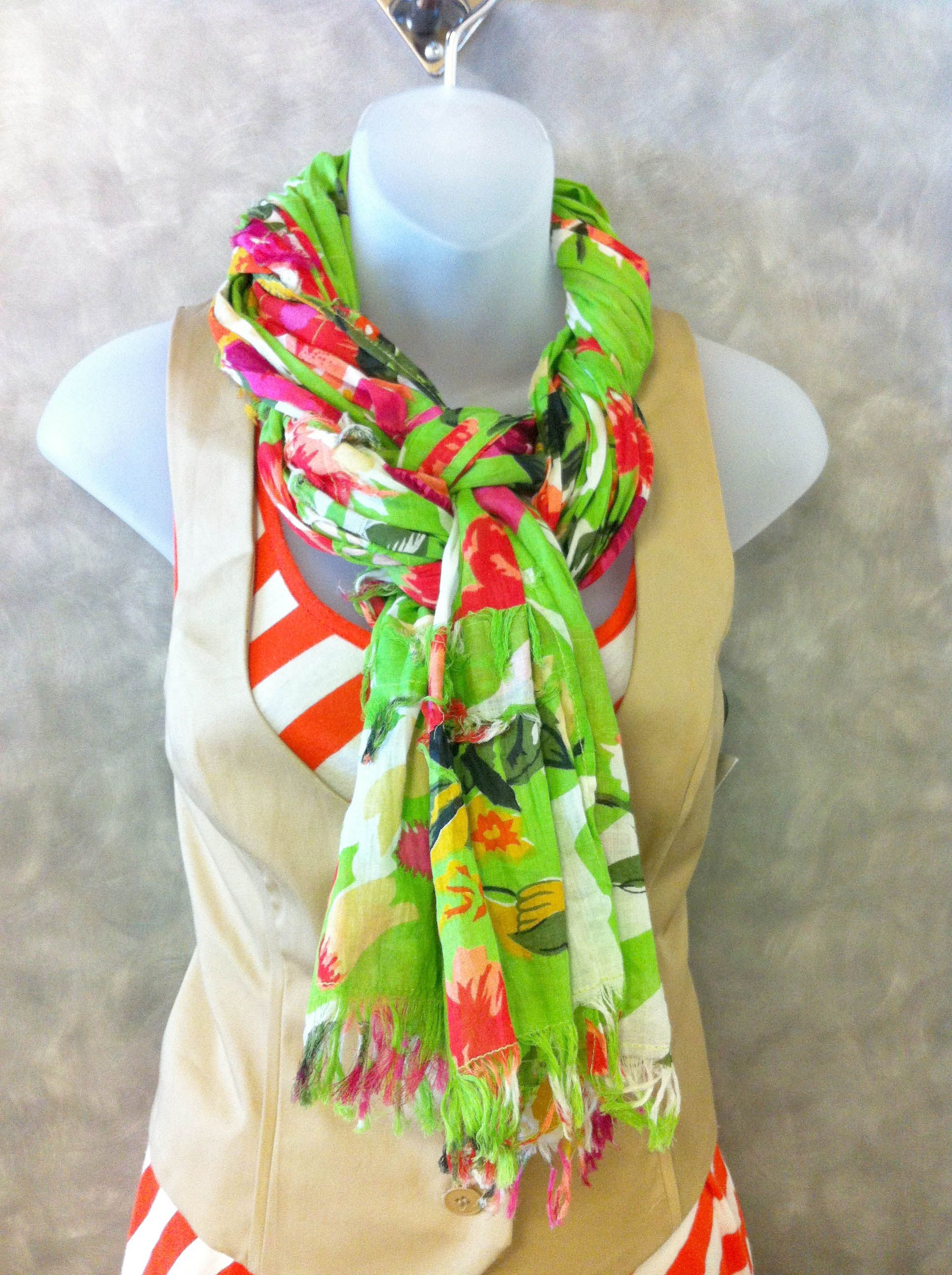Ask our Clothes Mentor associates for this scarf knot!